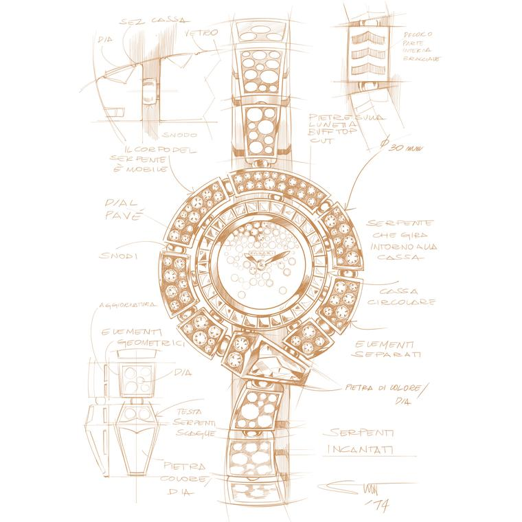 Bulgari Serpenti Incantati Buonamassa sketch