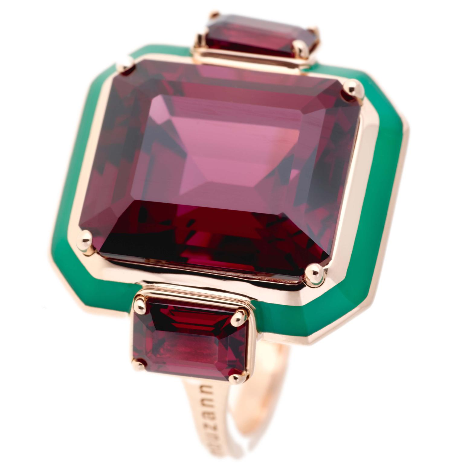 Rhodolite cocktail ring from Selim Mouzannar