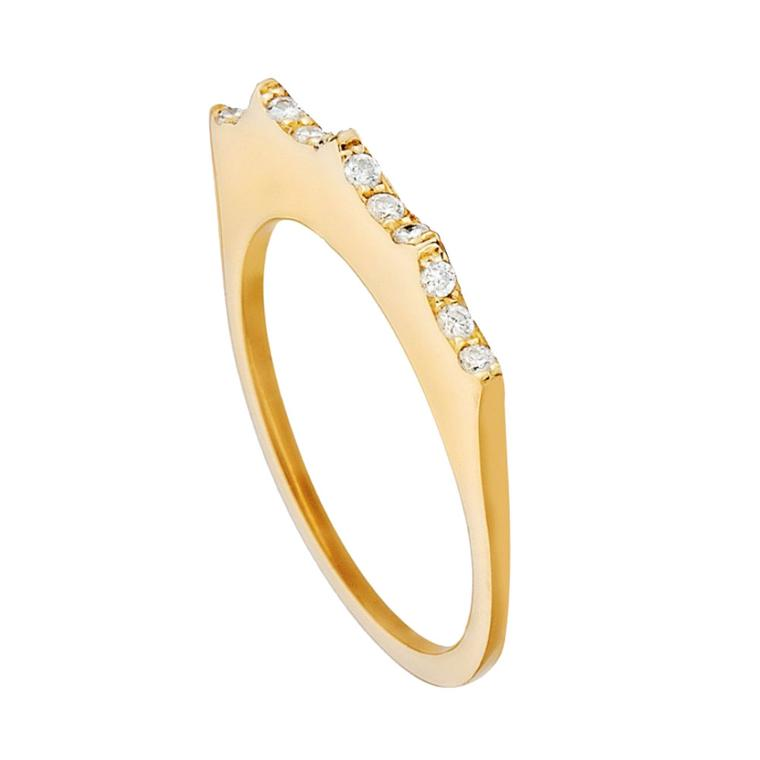 Empress ring in yellow gold and white diamonds