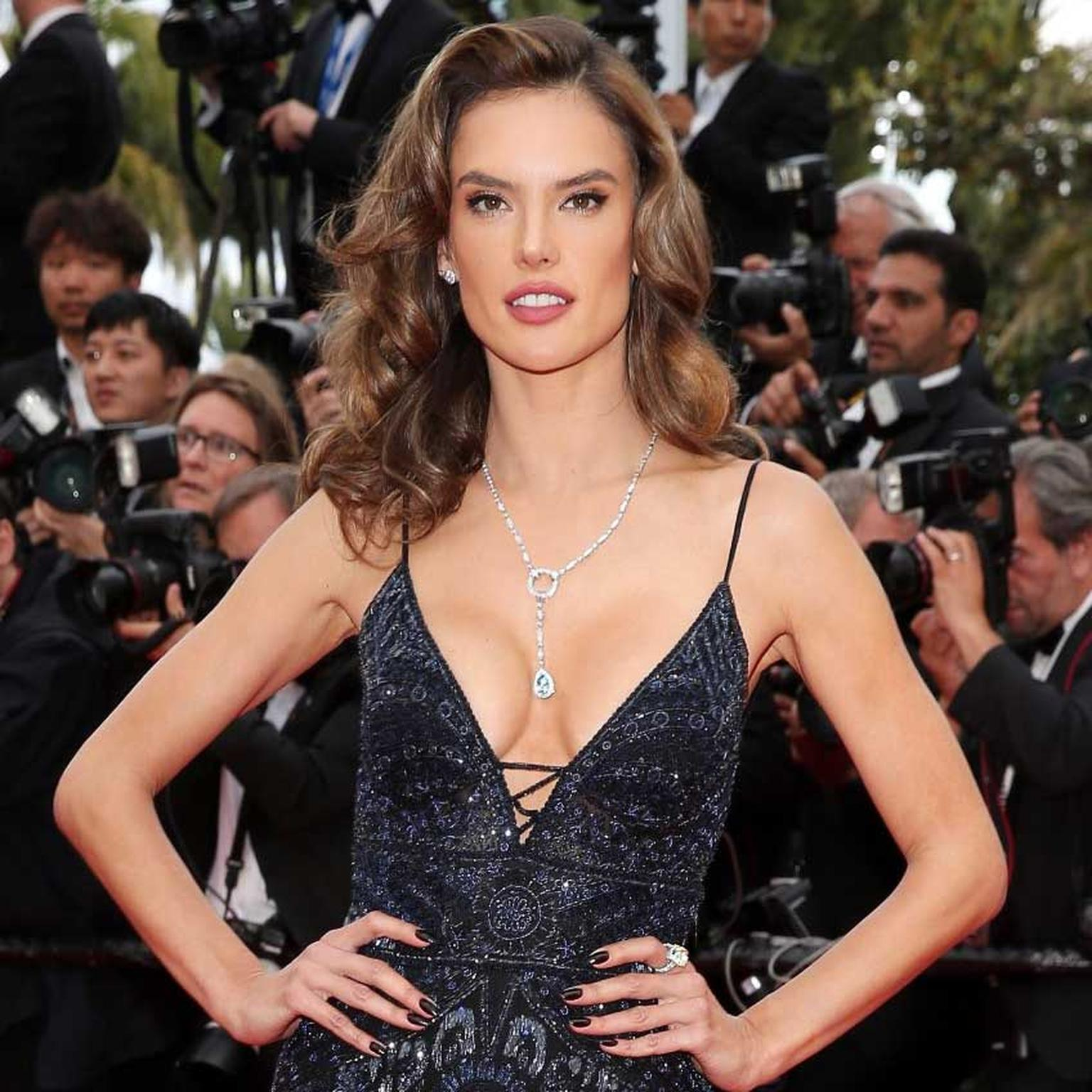 Alessandra Ambrosio in Boucheron jewels Cannes Red Carpet 2018