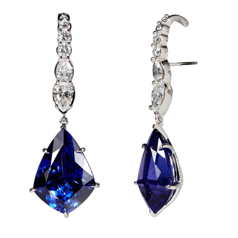 Ara Vartanian tanzanite and diamond earrings