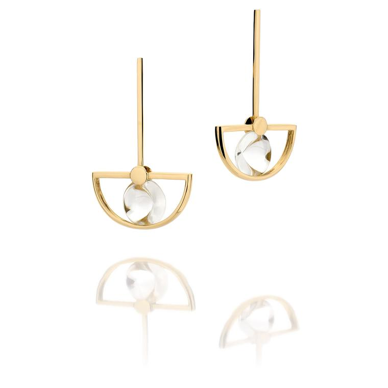 Yael Sonia Spinning Top curve earrings