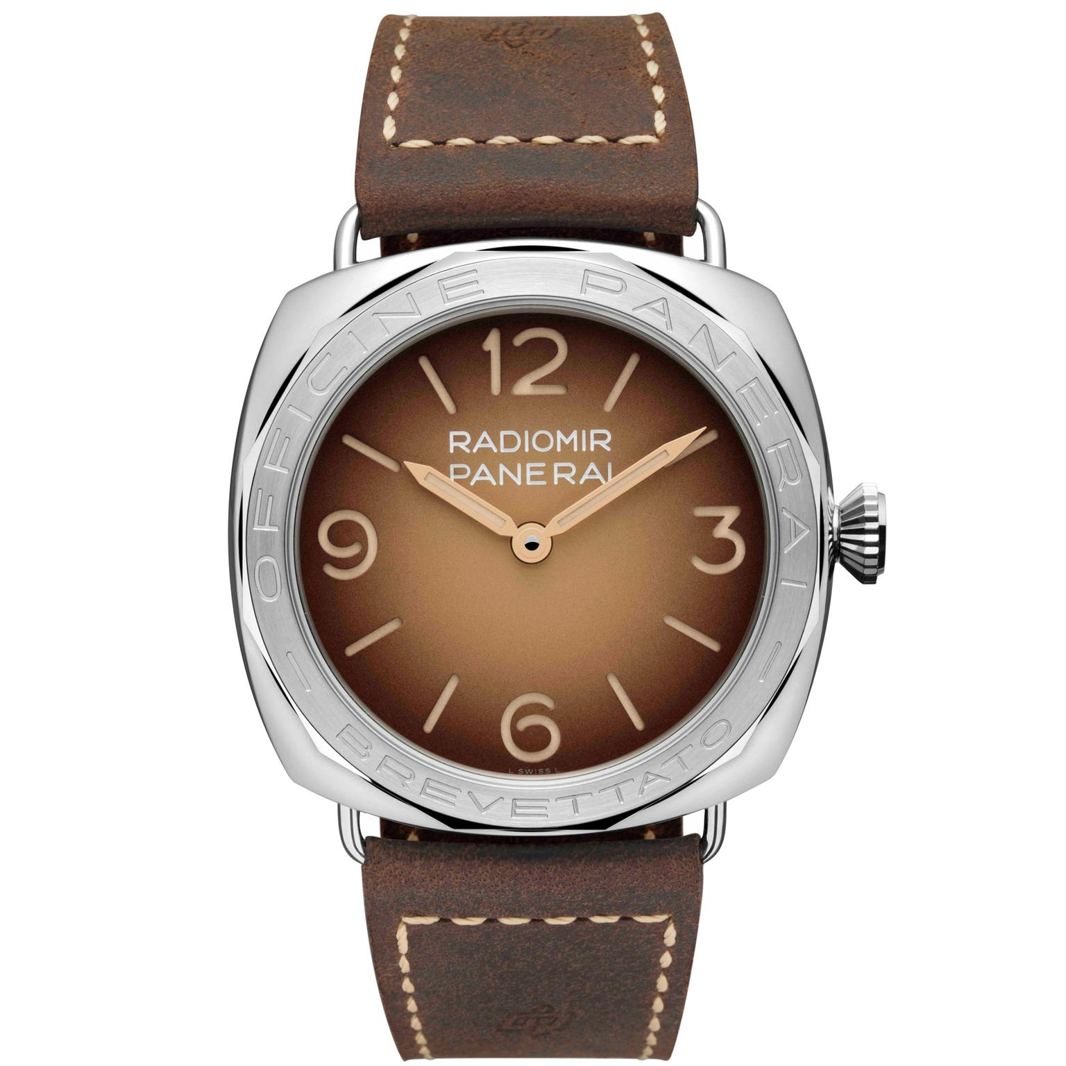 Panerai Radiomir 3 Days Acciaio brown dial watch