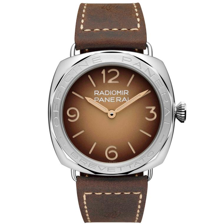Radiomir 3-Days Acciaio brown dial watch