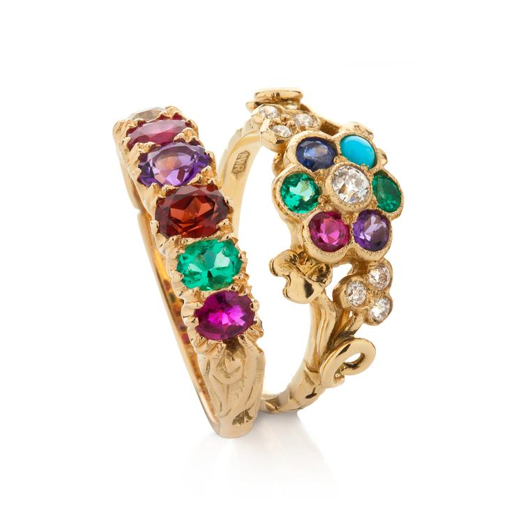 London Victorian Ring Company vintage gemstone rings