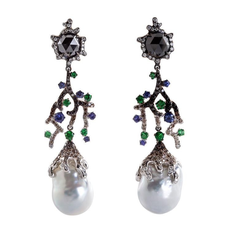 Alessio Boschi black diamond earrings