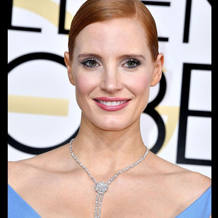 Jessica Chastain Piaget Golden Globe Awards 2017