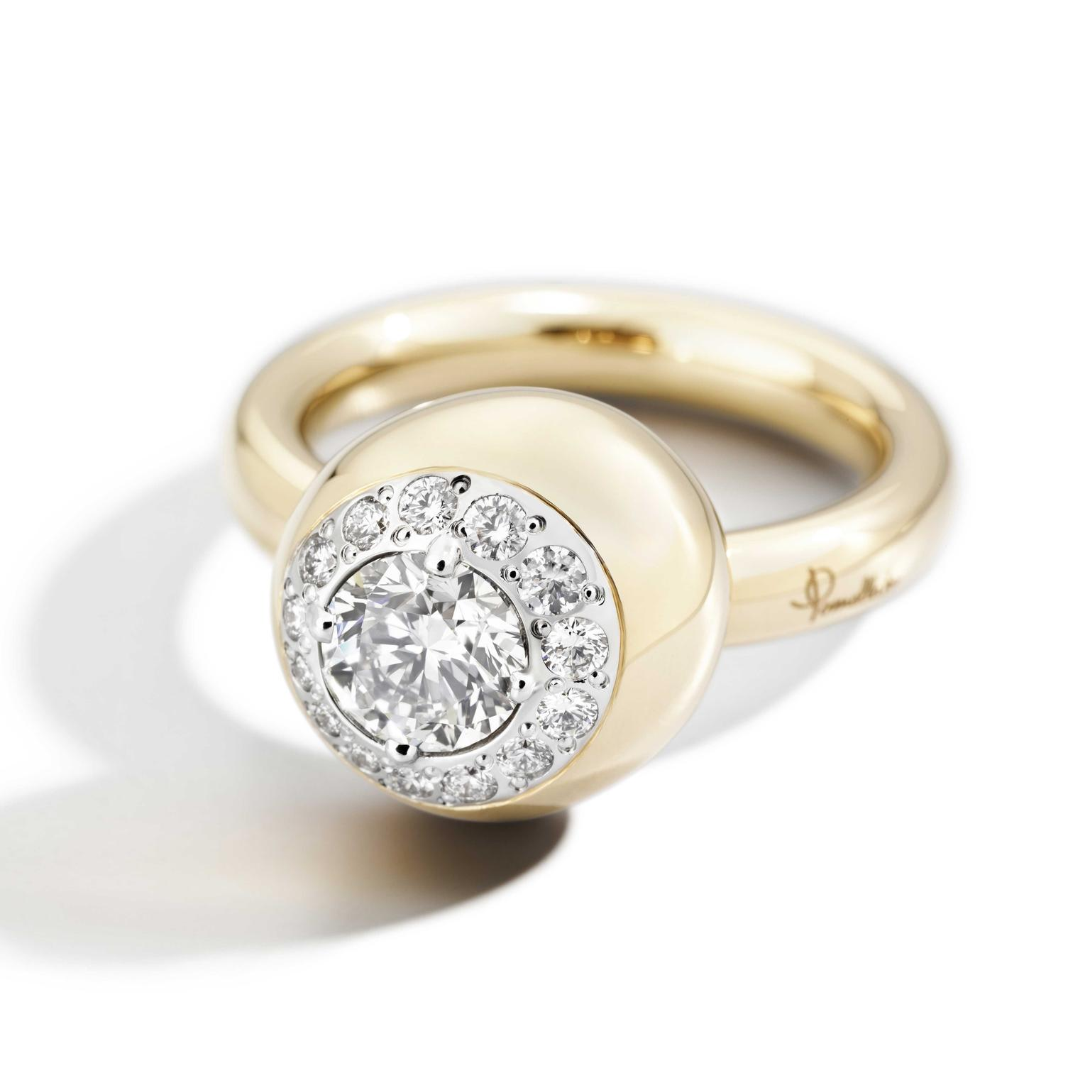 Pomellato Nuvola rose gold diamond ring