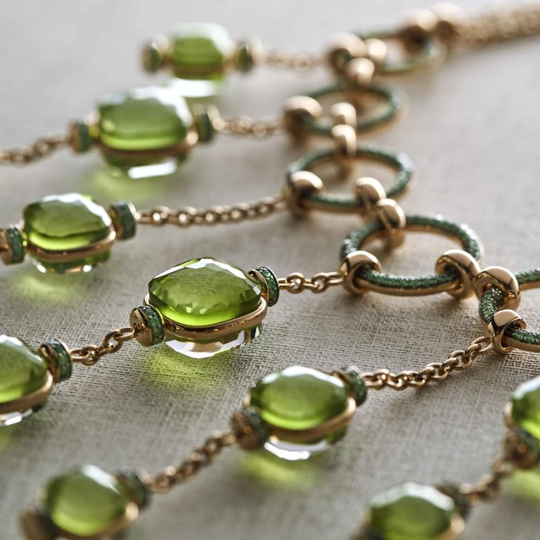 Pomellato Collier Cascade with peridot close up - LA GIOIA DI POMELLATO