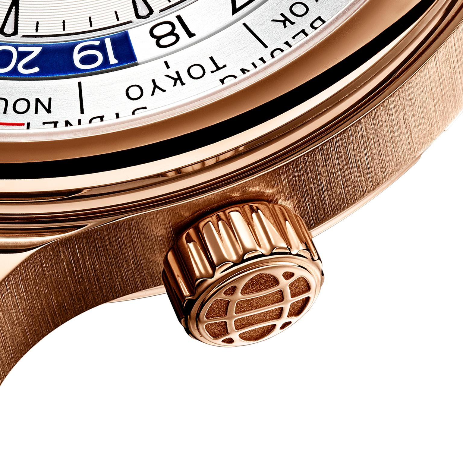 Chopard L.U.C Time Traveler One rose gold crown