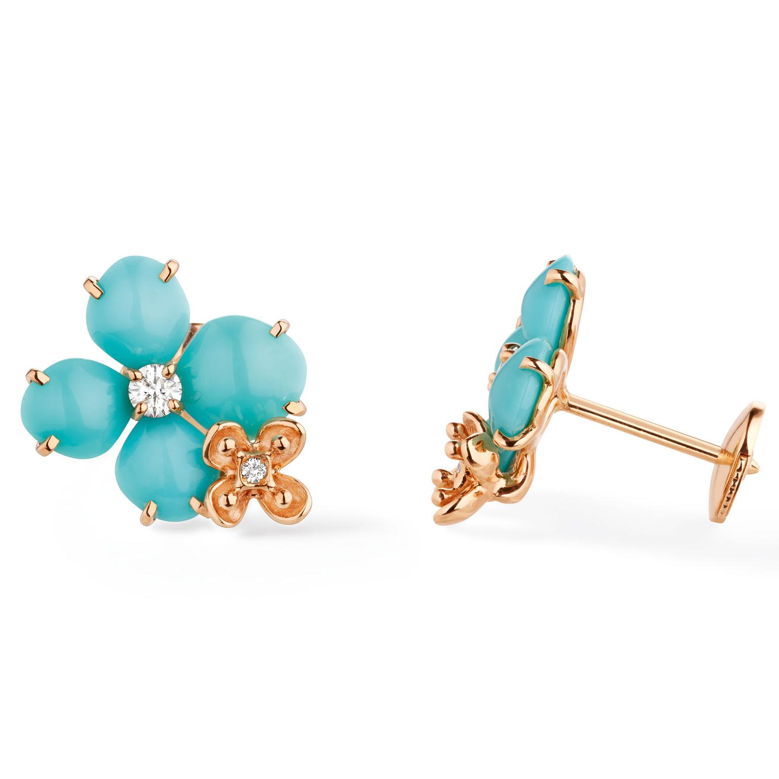Chaumet turquoise Hortensia earrings