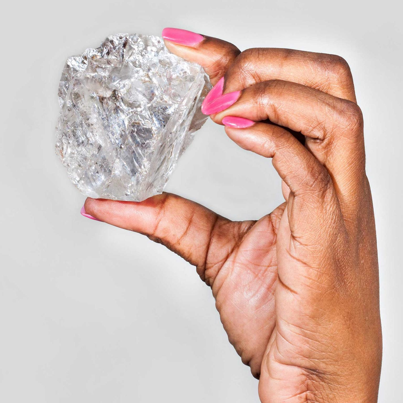 The 1,111 carat Karowe AK6 rough diamond