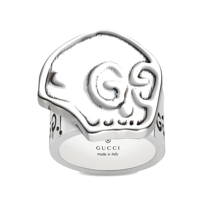 guccighost skull ring in silver gucci the jewellery editor