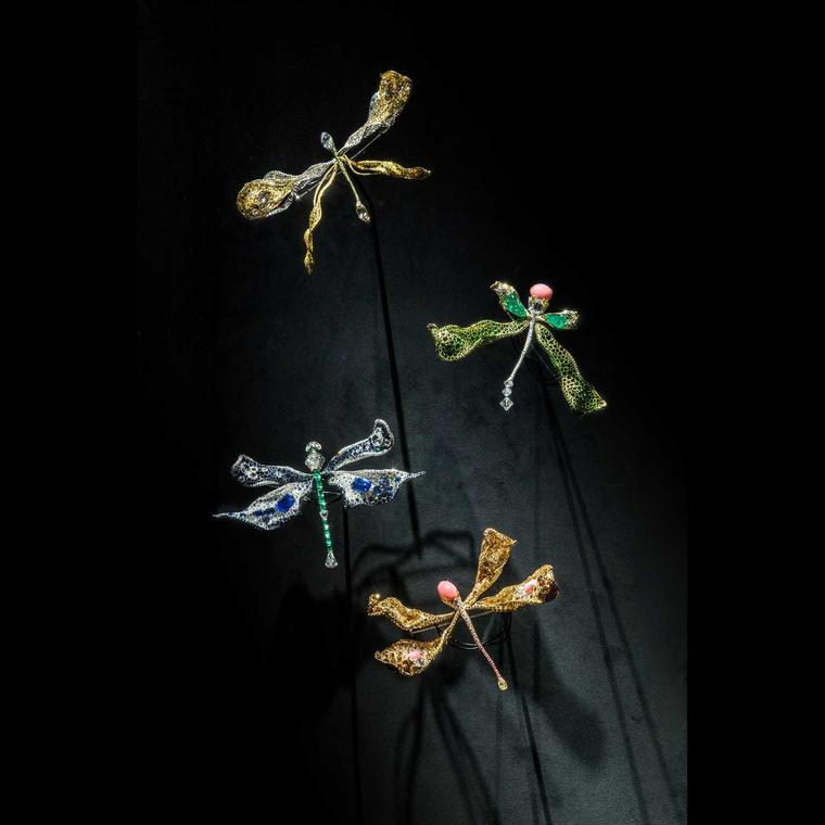 Cindy Chao Black Label Masterpiece dragonfly brooches