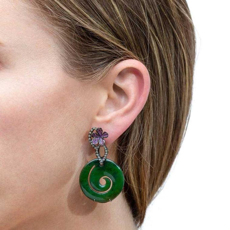 Lydia-Courteille jade earrings