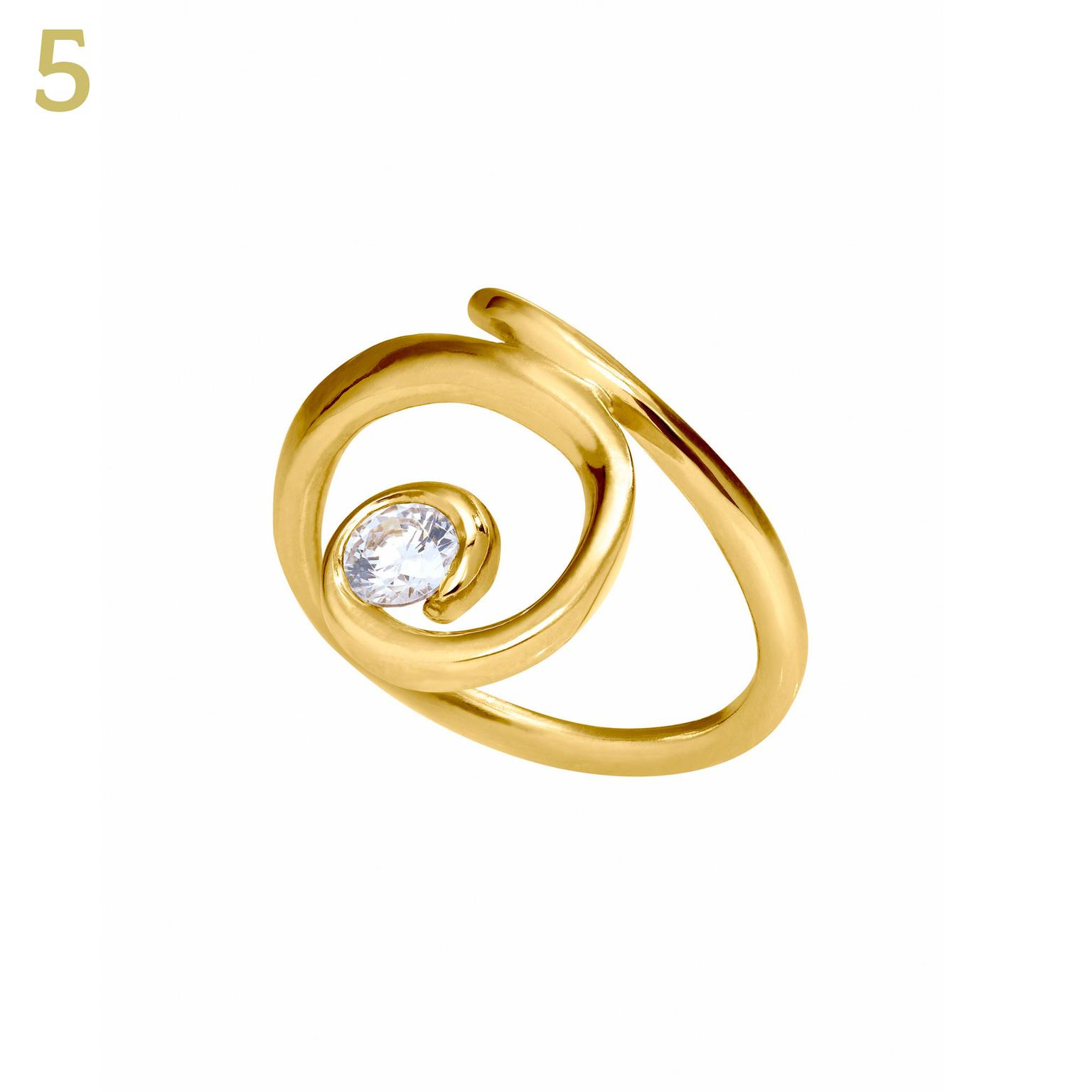 Sarah Jordon for Article Circle Northern Lights Fairtrade gold diamond ring