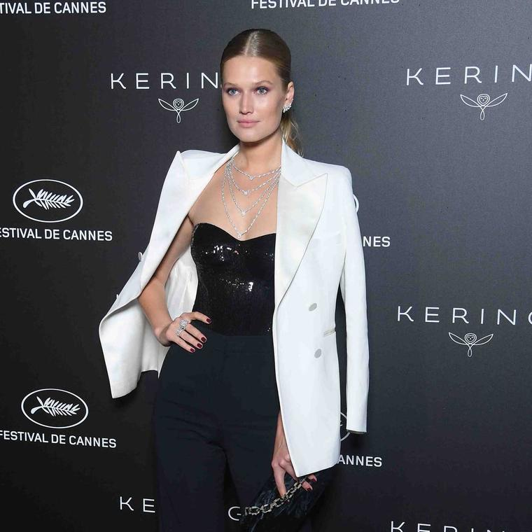 Toni Garrn in Messika diamonds Cannes 2019