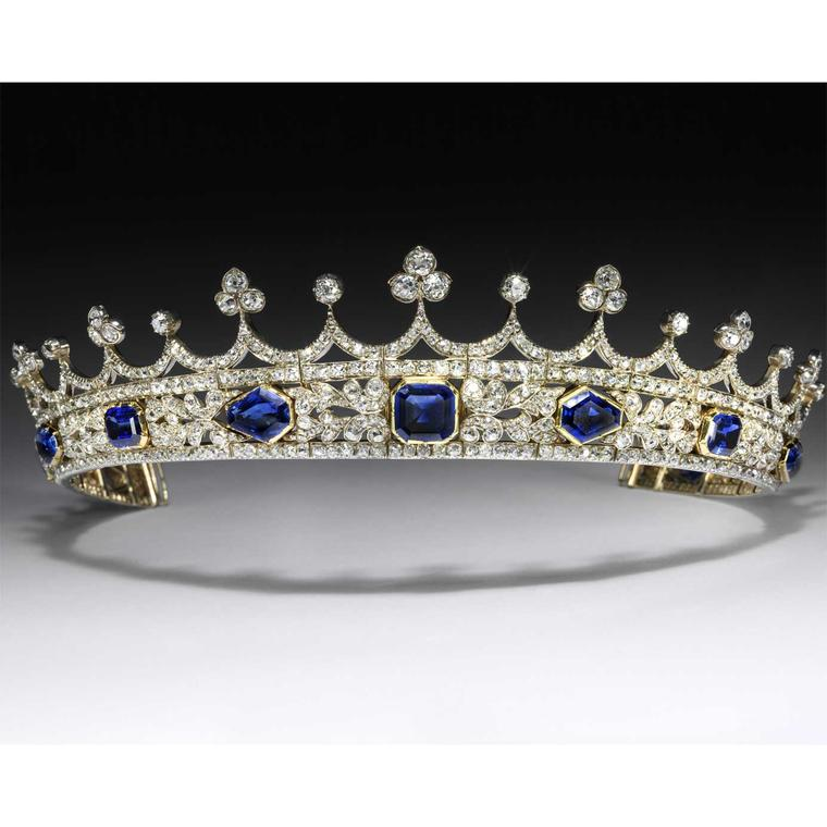 Queen Victoria sapphire and diamond coronet