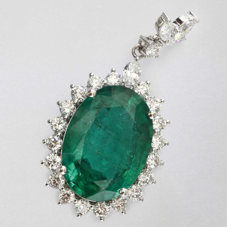 David Jerome Collection Zambian-mined emerald earrings