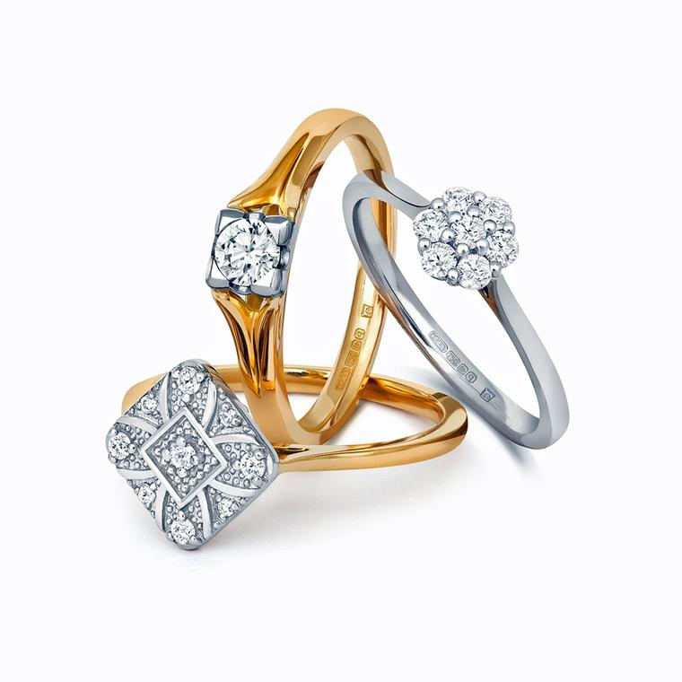 Cred diamond and Fairtrade gold engagement rings