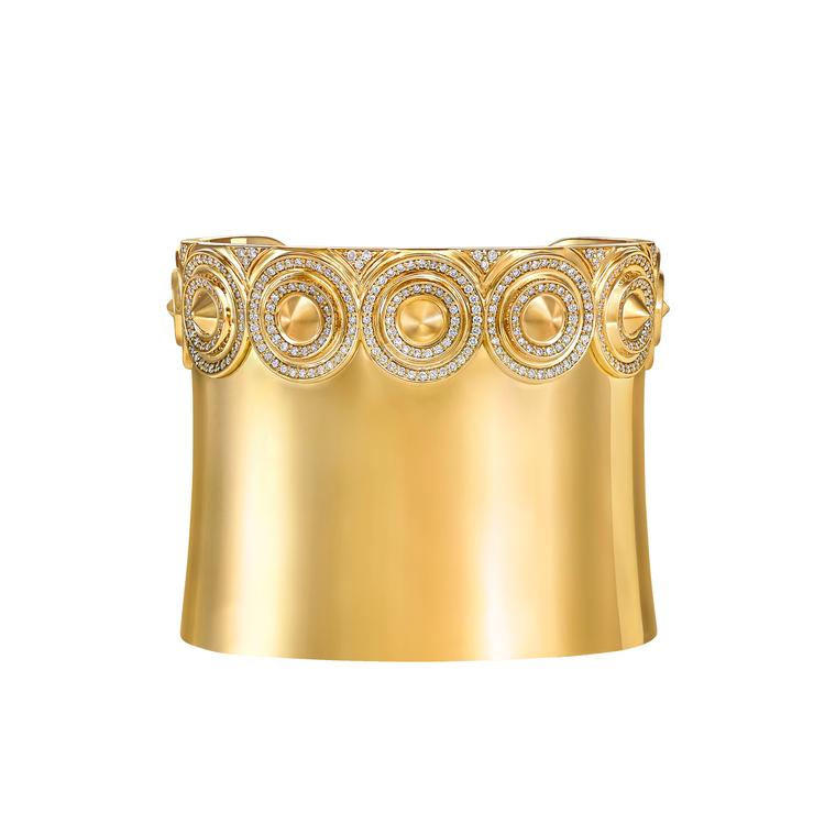 VANLELES Out of Africa Sahara cuff in yellow gold