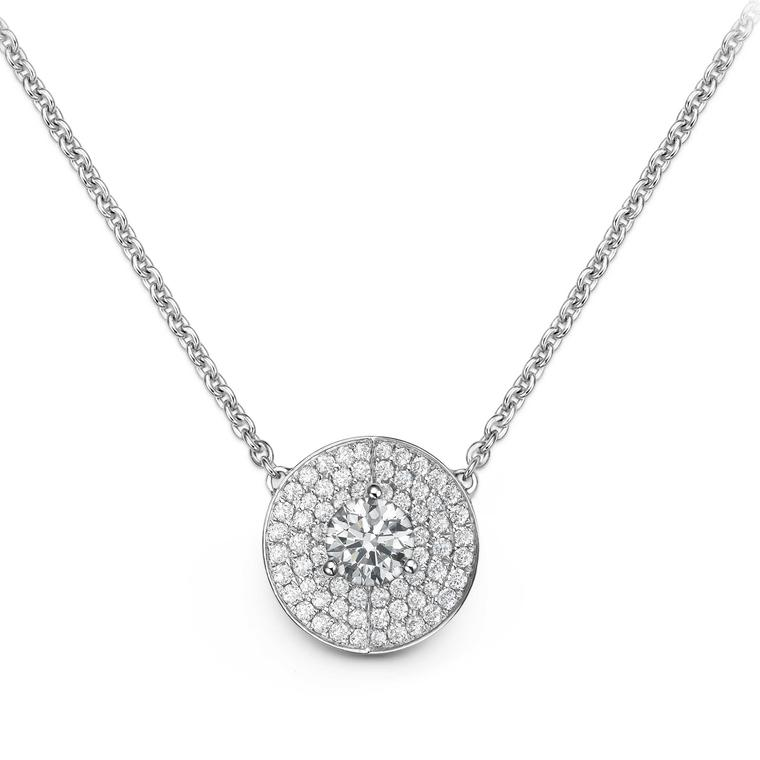 Bucherer B Dimension necklace with diamonds in white gold £4400
