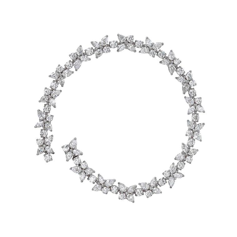Tiffany Victoria collection floral diamond bracelet