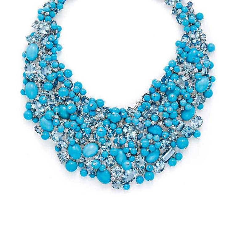 Tiffany Blue Book turquoise bib necklace