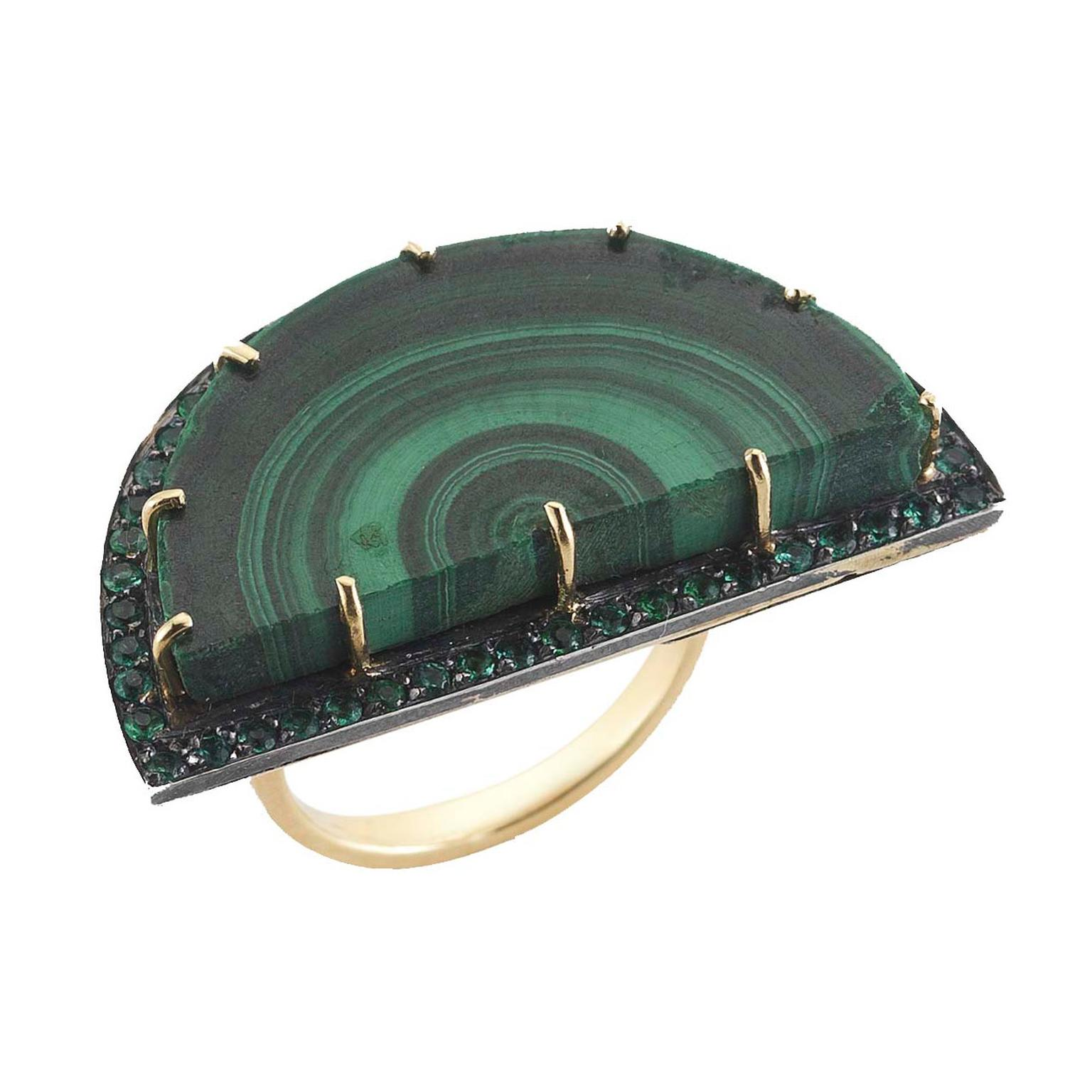 Malachite jewelry: re-enter the Seventies in style