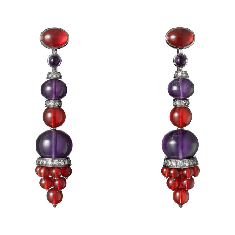 Cartier Étourdissant amethyst and opal earrings