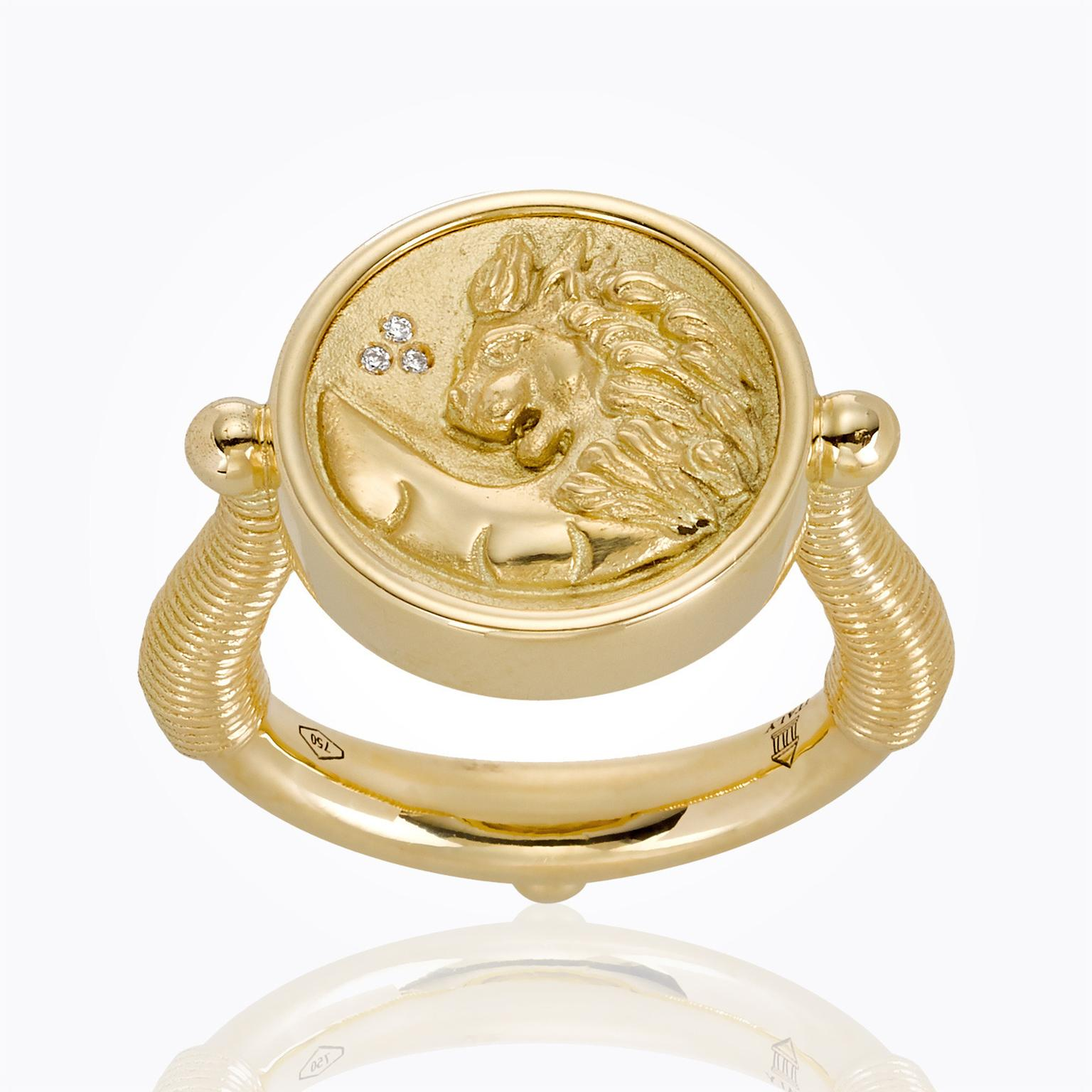 trendy signet jules and smith plated tulum ring gold rings products crystal