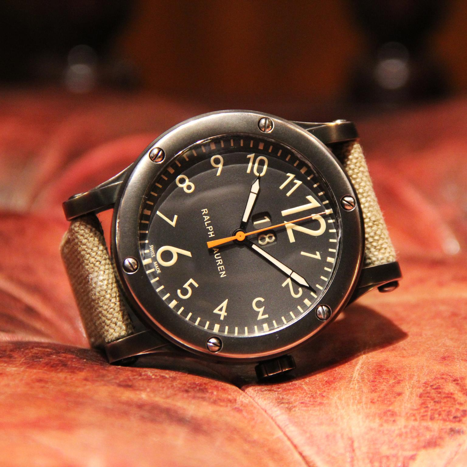 Ralph Lauren RL67 Grand Date watch black dial