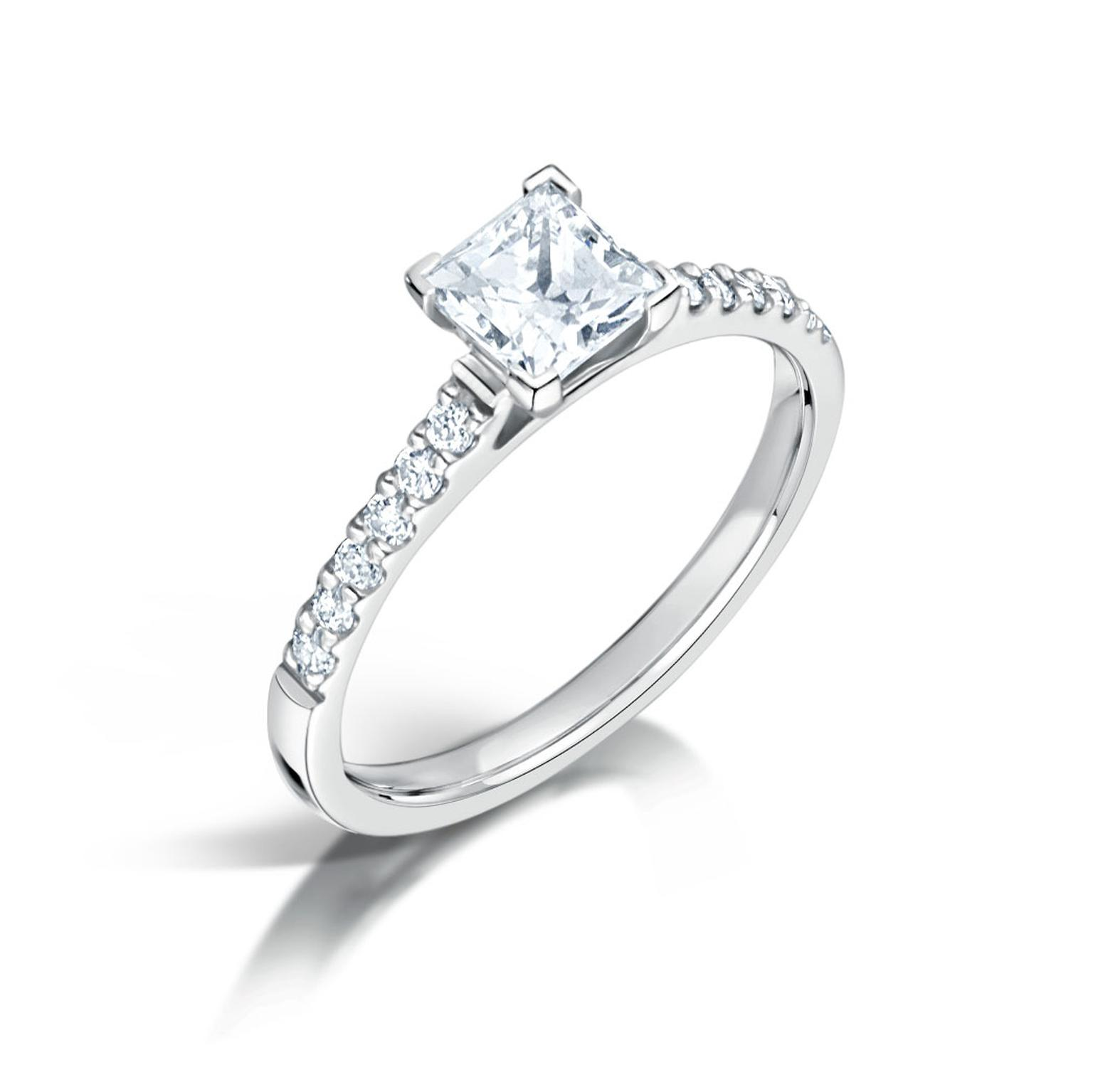 Arctic Circle Fairtrade gold engagement ring