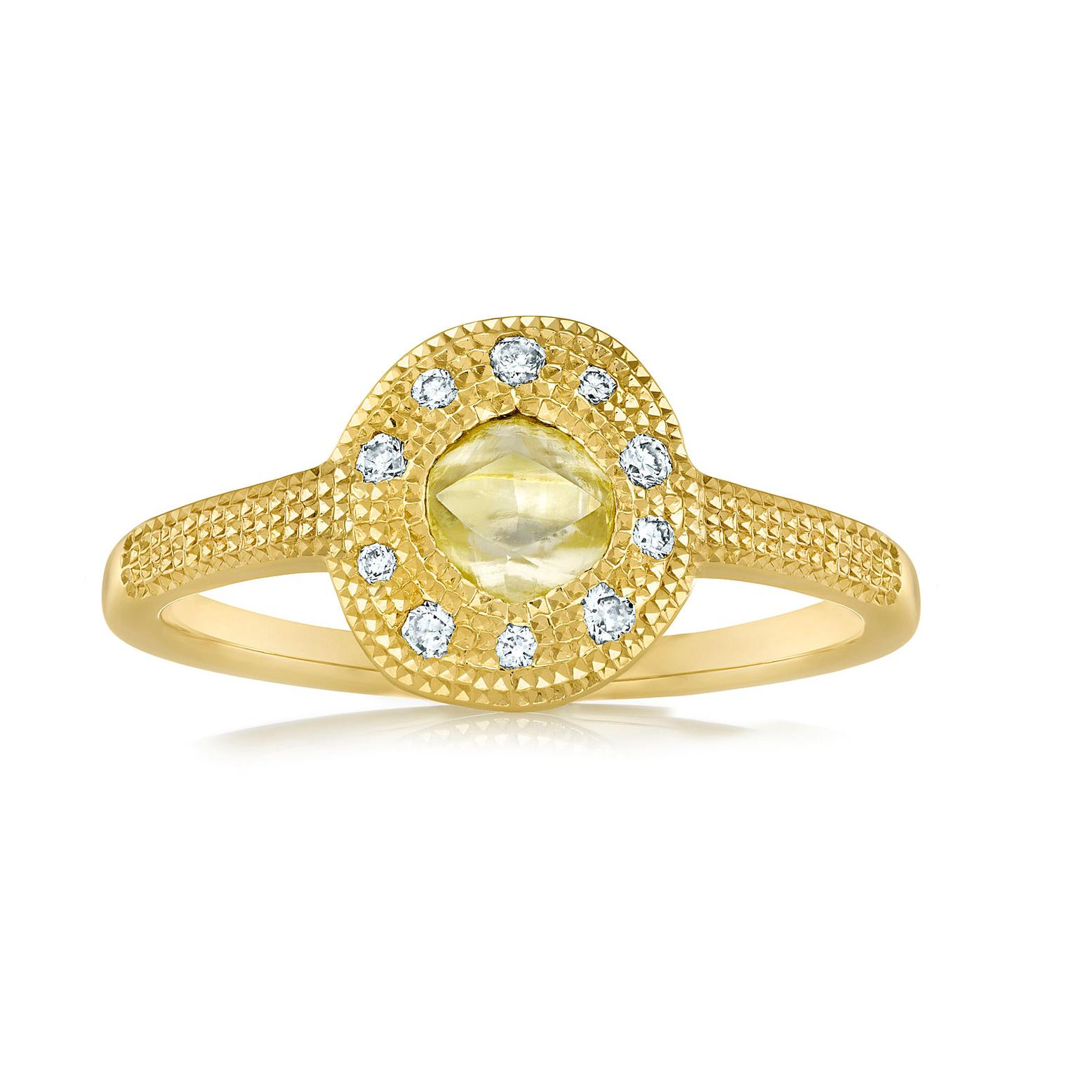 Talisman yellow gold solitaire ring by De Beers
