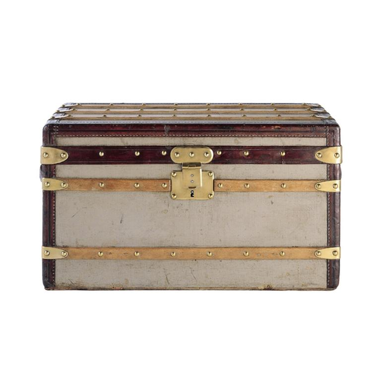 Louis Vuitton rectangular trunk in Trianon grey canvas