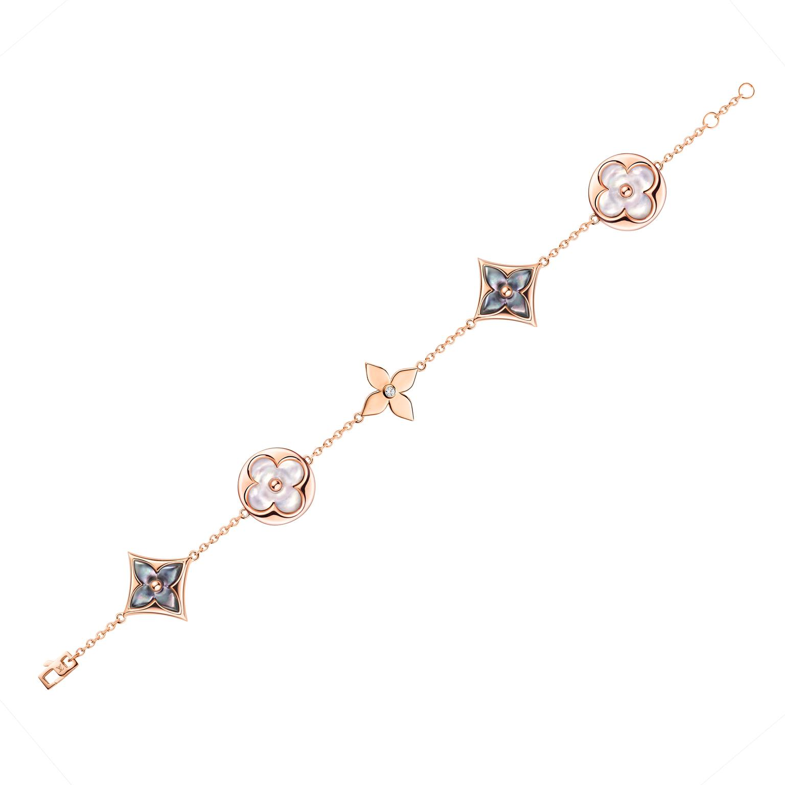 Louis Vuitton jewellery bracelet in white and grey mother-of-pearl