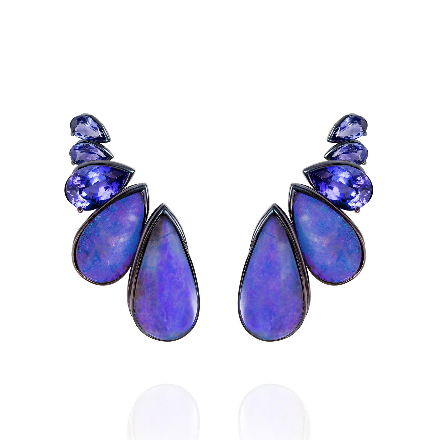 Fernando Jorge Boulder opal and diamond earrings