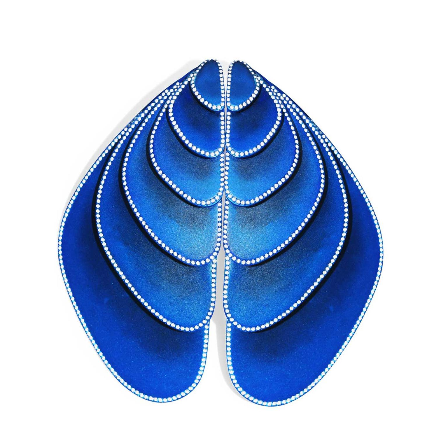 Emmanuel Tarpin blue wing earrings