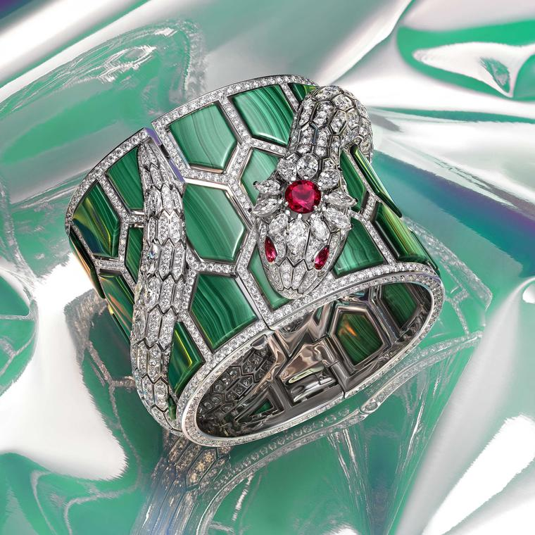 Serpenti Misteriosi My Handcuff watch from Bulgari Wild Pop high jewellery 2018