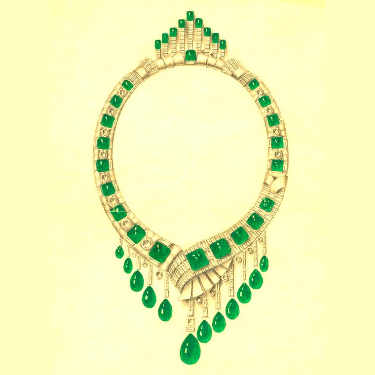 Van Cleef & Arpels necklace design circa 1930