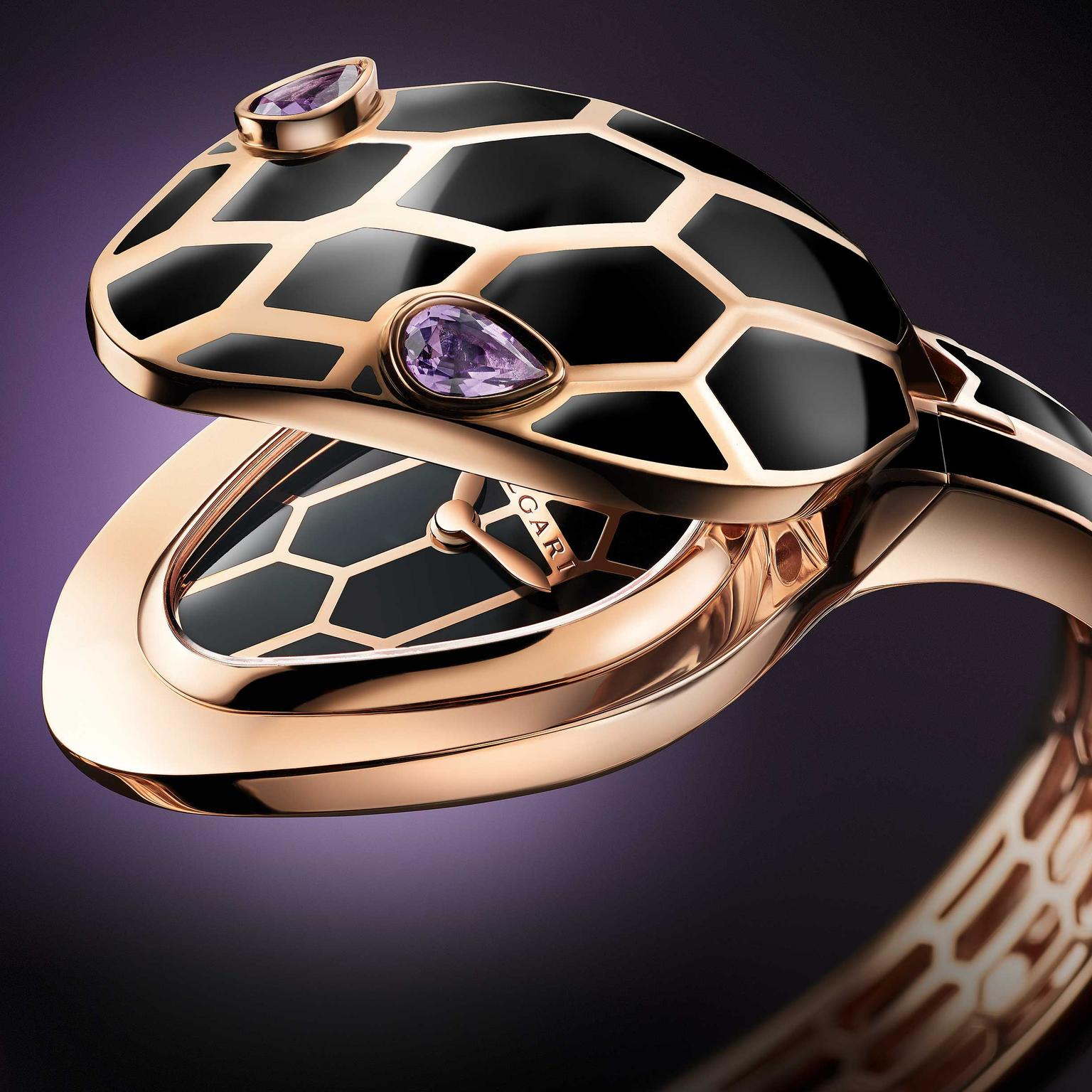 Bulgari Serpenti Seduttori gold amethyst watch