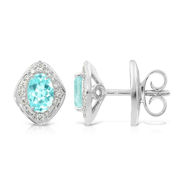 Kat Florence Brazilian Paraiba tourmaline earrings
