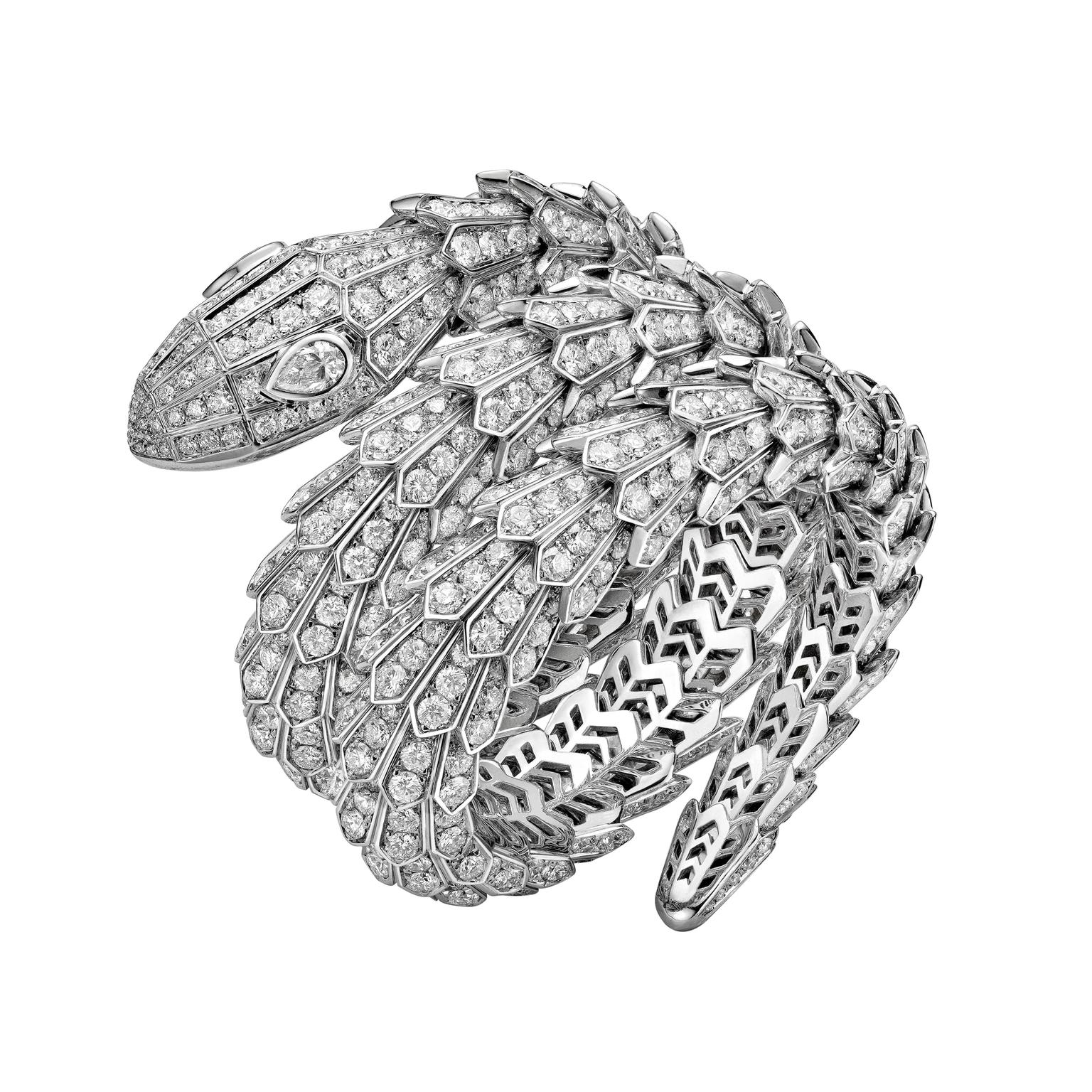 Bulgari High jewellery Serpenti bracelet worn by Bella Hadid