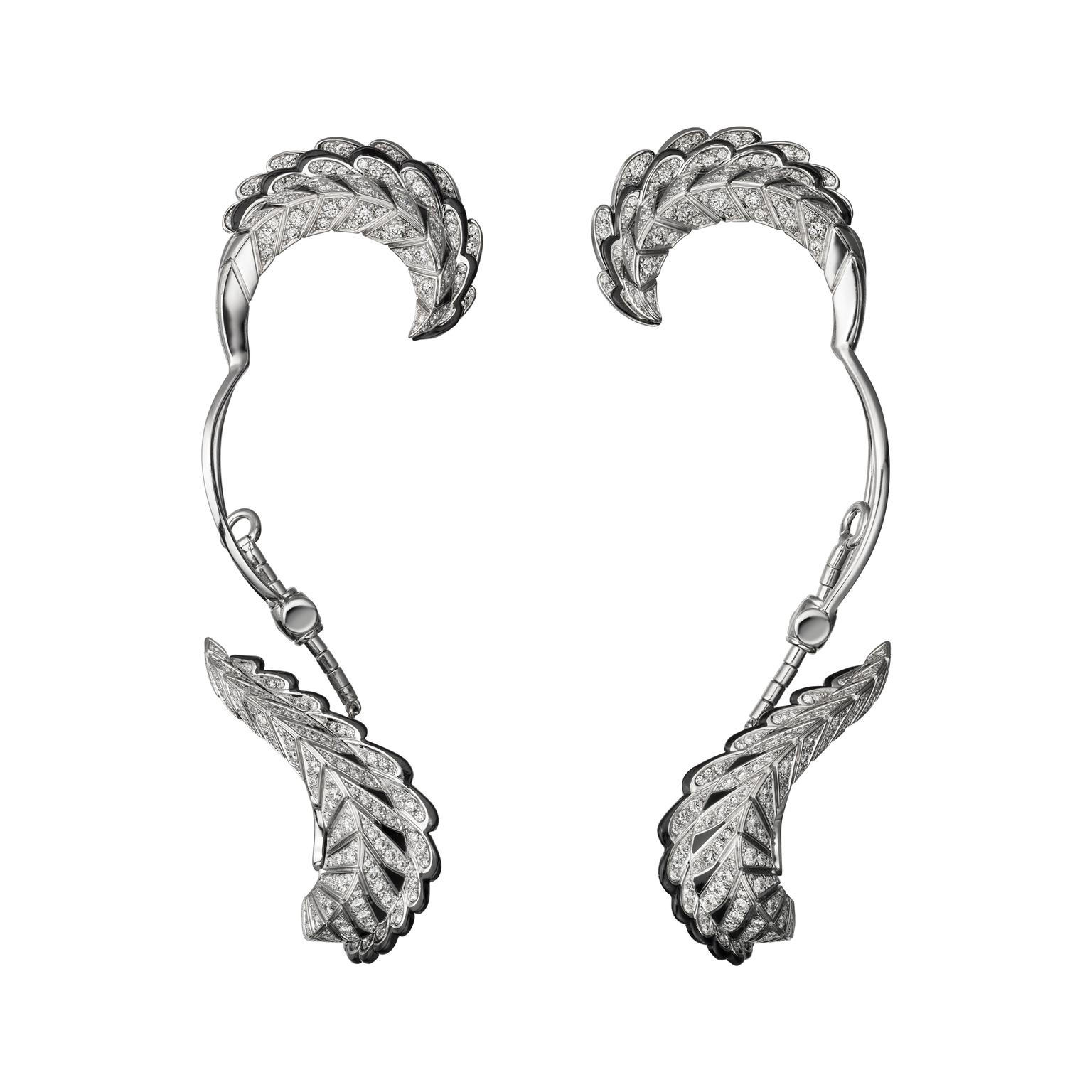 Cartier Magicien Quetzal diamond ear cuffs