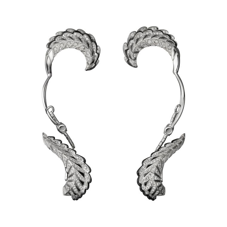 Magicien Quetzal diamond ear cuffs