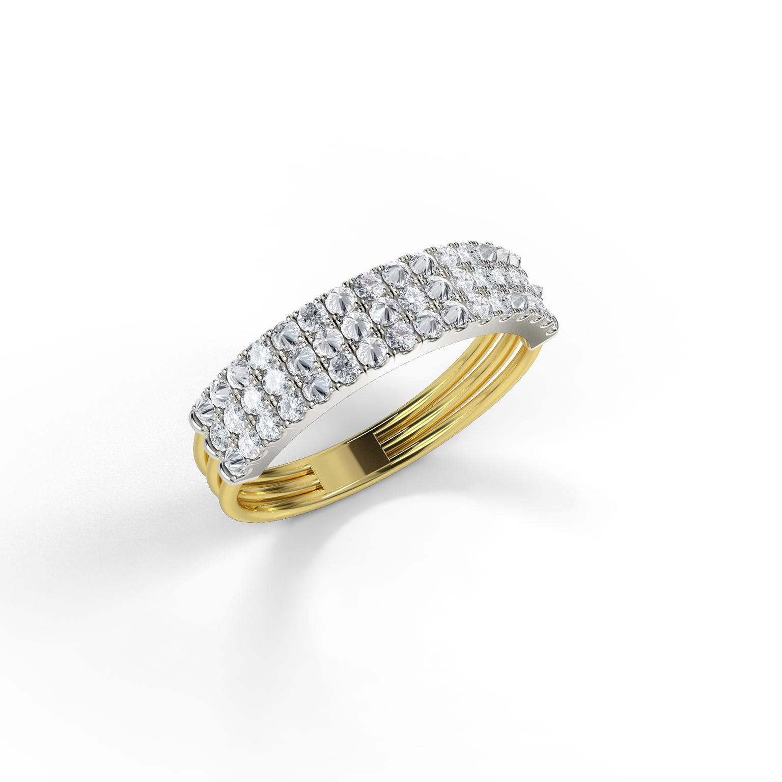 Jessie V E Feel The Love diamond braille ring