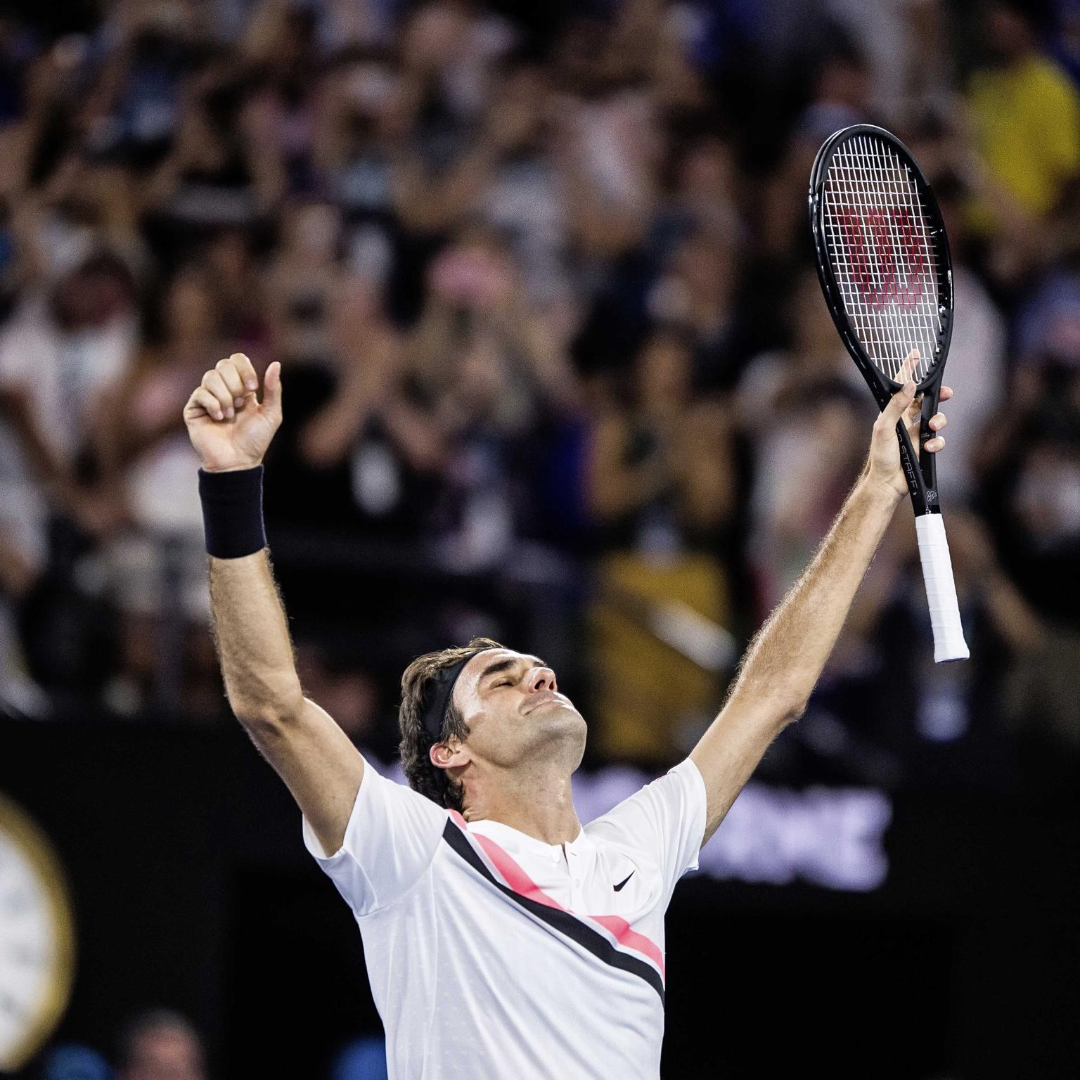 Roger Federer wins his sixth Australian Open title and his 20th Grand Slam men's singles title