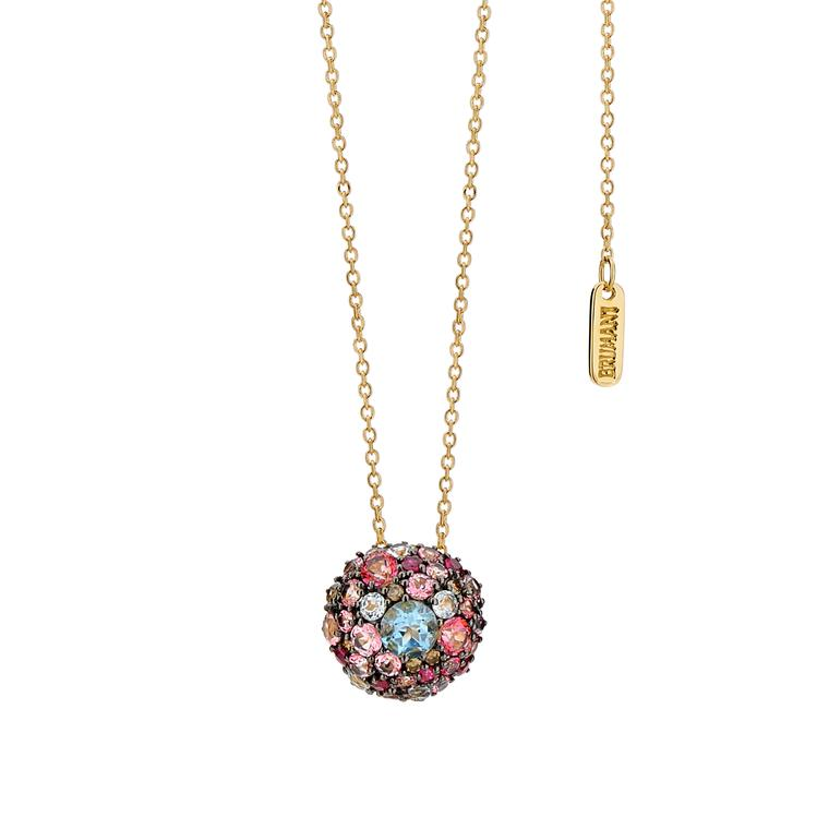 Brumani Baobab Bubbles multicolour gemstone necklace
