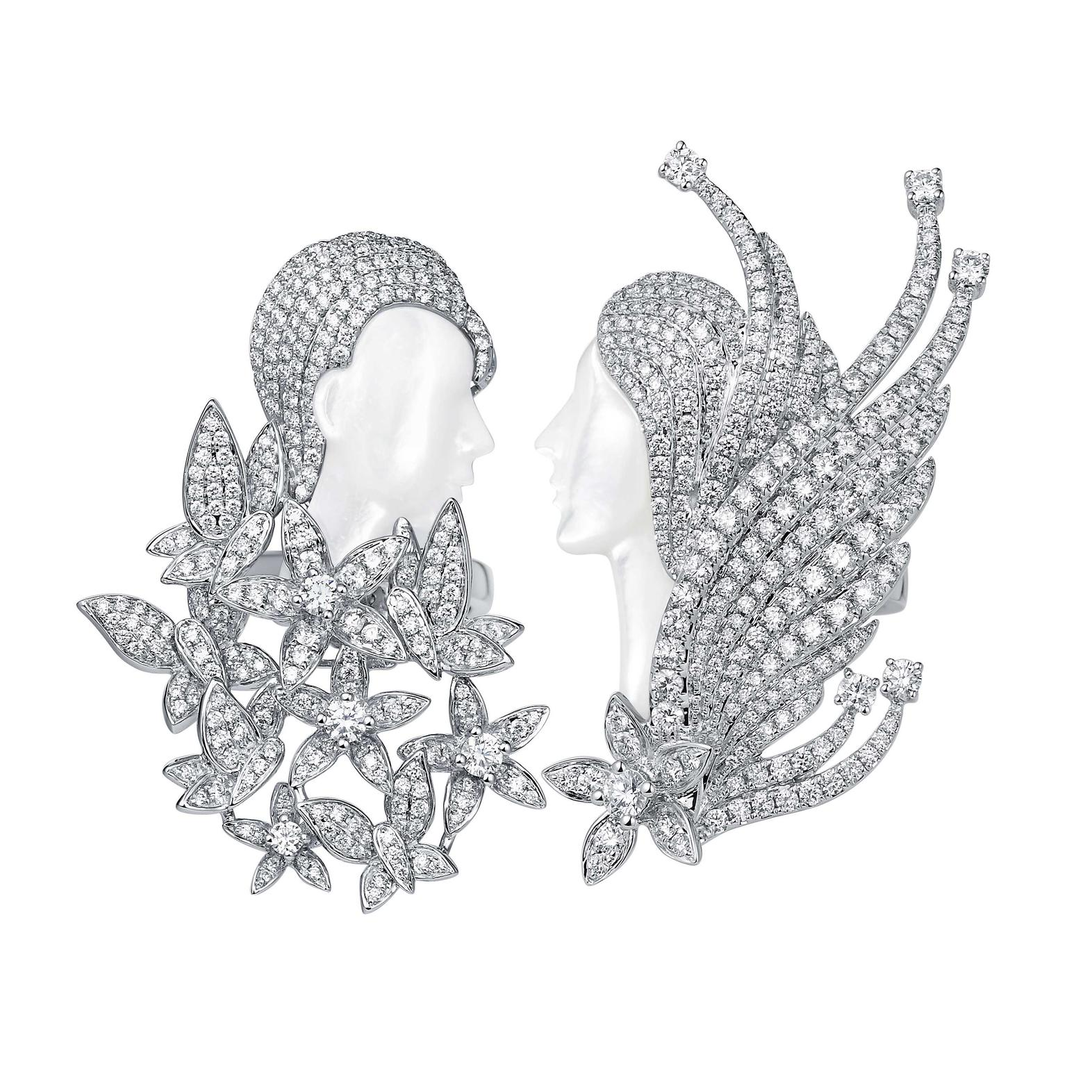 Sarah Zhuang white gold and diamond rings and brooch Long Distance Love