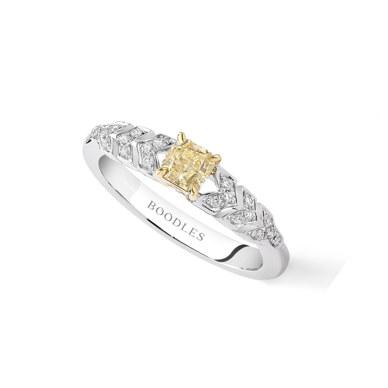 Boodles Finely Coloured yellow diamond ring